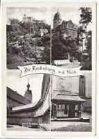 uralte AK Die Rochsburg an der Mulde Wehrgang Brunnenhaus Schloß 1960 //16