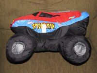 MONSTER JAM PUFF PILLOW TRUCK SPIDER MAN SPIDERMAN GOOD STUFF STUFFED PLUSH TOY