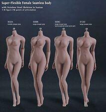 1/6 súper flexible de acero esqueleto sin costuras Hembra Grandes Busto bronceado cuerpo de mujer