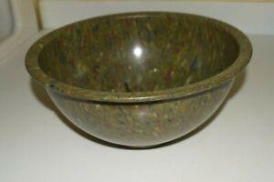 Texas Ware Melamine 125 Vintage Confetti Mixing Bowl Dark Green