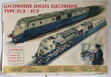 Affiche Originale - LOCOMOTIVE DIESEL ELECTRIQUE.TYPE 2C2  - P. BOUVRY A.BRENET