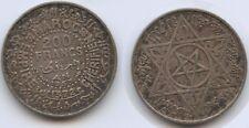 G11888 - Morocco 200 Francs AH1372-1953 Y#53 Silver Scarce Mohammed V.
