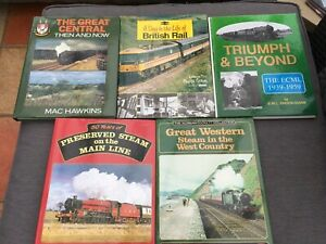 A Day In The Life Of British Rail - plus 4 other rail enthusiast book bundle