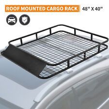 "48"" Universal Car SUV Roof Rack Basket Top Carrier Cargo Travel Luggage Holder"