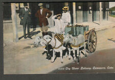 early 1900s unmailed post card City Water Delivery Caimanera Cuba/Harris Bros Co