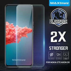 2 Pack For ZTE Axon 20 5G Full Coverage 9H Tempered Glass Screen Protector Film