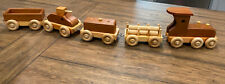 VTG Amish Made Wooden Toy Train Play Set Lancaster PA 33 Inch Total Length VG