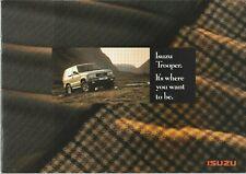 Isuzu Trooper Brochure - c.1992 - In English - Excellent Condition