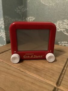 Pocket Etch A Sketch Mini Size Mattel Working Vintage Toy