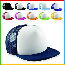 SNAPBACK CAP, Original Flat Peak Beechfield 100% Polyester Retro Style Cap