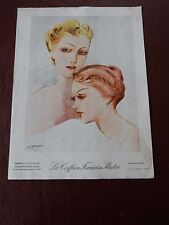 ART DECO HAIR Stylists ILLUSTRATION recent find in French SALON amazing  g