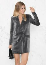 & Other Stories Silver Blazer Dress Size 12 NWT (50% OFF!)
