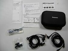 USED Panasonic sealed earphone high-res sound source Silver RP-HDE10-S Japan F/S