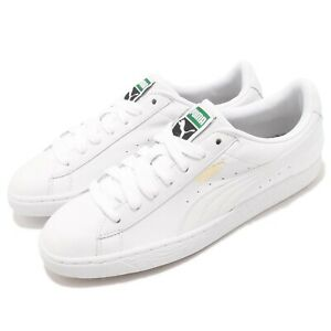 Puma Basket Classic LFS White Leather Mens Casual Shoes Trainers 354367-17