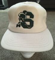 Vintage Michigan State Hockey Baseball Snapback Hat, USA!