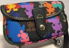 NWT~Dooney & Bourke*Disney*Multi-Colored*Flap Wristlet 17088D S177