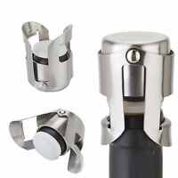 Stainless Steel Champagne Stopper Sparkling Wine Bottle Plug Sealer Convenient U