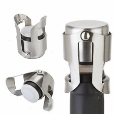 Stainless Steel Champagne Stopper Sparkling Wine Bottle Plug Sealer Convenient