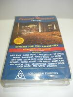THE FREDDIE MERCURY TRIBUTE CONCERT FOR AIDS VHS VIDEO TAPE PAL FREE POSTAGE