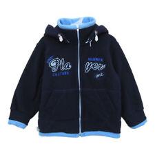 Giacca di pile blu casual per bambini dai 2 ai 16 anni