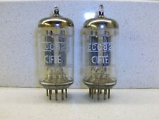 2× ECC82 12AU7 CIFTE by TELEFUNKEN <> smooth plates matched pair valvole vintage