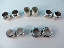US Seller-10 scarf slide ring large hole tube bead for scarves with jewelry