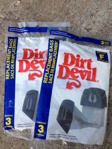 6pk Genuine Dirt Devil Type F Vacuum Cleaner Bags part 3200147001