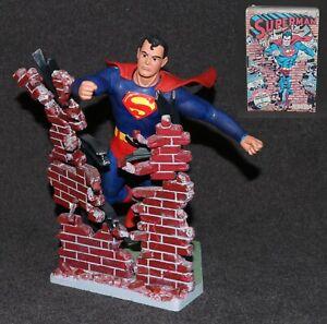 Aurora Model Built Up 1974 Superman Comic Scenes +Box +Comic Pro Job