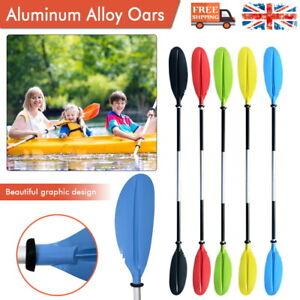 Kayak Paddle Set of 2 Canoe Aluminium Paddle Asymmetrical Floating Boat Oars New