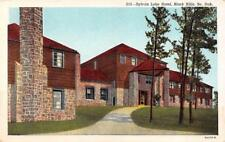Black Hills, Sd South Dakota Sylvan Lake Hotel Roadside c1940's Linen Postcard
