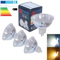 4x LED MR16 LED Birne Lampe Leuchte 3W 12SMD Warmweiß Kaltweiß Strahler DC12V CE