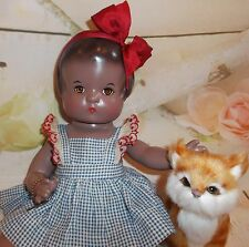 """PATSY Composition EFFANBEE 30's Chocolate AA doll 13"""" factory original outfit"""