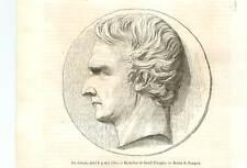 Portrait de Louis Joseph Gay-Lussac Médaillon de David d'Angers GRAVURE 1850
