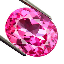 15.00 CTS 100% AAA+ RICH SWEET PINK SAPPHIRE (Lab Created) Oval rose saphir