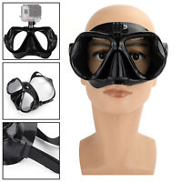 1pc Black Diving Mask Scuba Snorkel Goggles Face Glasses Mount For GoPro Hero TZ