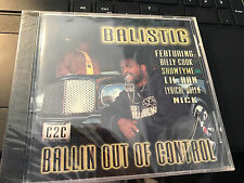 "Balistic ""Ballin Out of Control"" cd SEALED Billy Cook Showtyme Lil Ran"