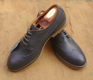 Seasalt Niko Leather Brogue - Shadow (Dark Grey) Size 6.5 40 New BNWT RRP £74.95
