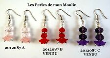 1 Paire Boucles d'Oreille Fleur Lucite AU CHOIX / 2012087A-B-C