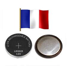 set 2 batteria ricaricabile LIR2025 3.6V Li-ion angolo LIR 2025