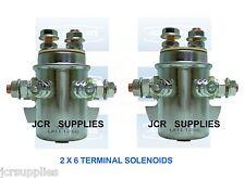 2x Solenoides 12v Cola ascensores y montacargas Motor Solenoides Ref 133616