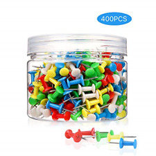 400Pcs Push Pins Colored Thumb Tacks Plastic Marking Crafts Office Organization
