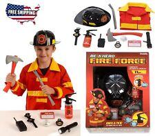 Costume FIREFIGHTER Halloween Fire Fireman Child Kids Suit Boys Helmet Toddler