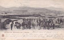 Ansichtskarte, Deutsche Kolonien, Kiautschou, Tsingtau, Abschied der Missionare