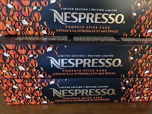 5 Sleeves 50 Qt of Nespresso PUMPKIN SPICE Cake