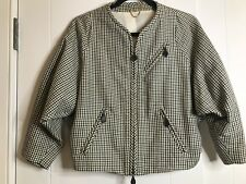 PAUL SMITH Size S Plaid Wool Leather Elements Jacket Sold Out 980$