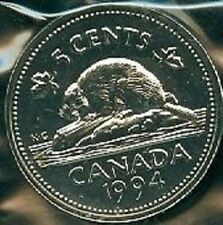 1994-PL Proof-Like Nickel 5 Five Cent '94 Canada/Canadian BU Coin Un-Circulated