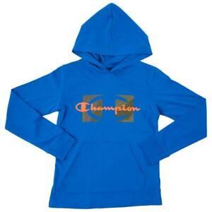 Champion Boys Long-Sleeve Camo Hoodie Hoody T-Shirt Tee (Blue Black Orange Grey)