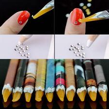 1X Nail Art Craft Supplies Crystal Rhinestones Gem Picker Wax Pencil Decor Tools