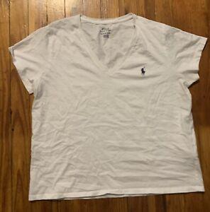 Polo Ralph Lauren Women's Short Sleeve V-Neck Pima Cotton Jersey T-Shirt Tee