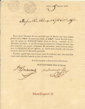 France - Charles X - Business document - 1826 - Excellent condition